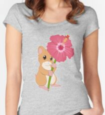 Hamster Hibiscus Women's Fitted Scoop T-Shirt