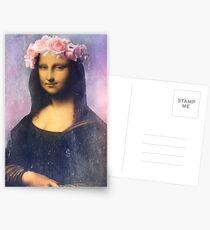 Mona Lisa Flower Crown Postcards