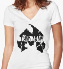 Thad Army Women's Fitted V-Neck T-Shirt