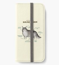 Anatomy of a Maine Coon iPhone Wallet/Case/Skin