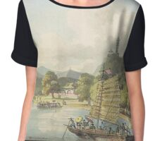 Chinese Day On The Water Chiffon Top