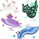 Sea Slug Sticker Set by Oliver Randell