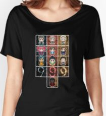 9 sprites 9 persons 9 pixels Women's Relaxed Fit T-Shirt