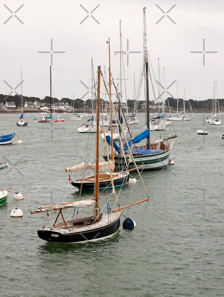 Sailboats in the Harbor at La Trinite sur Mer, Brittany France by Buckwhite