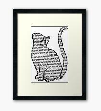 NEWSPAPER CAT tumblr merch! Framed Print