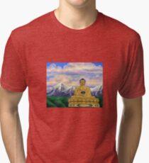 Sitting Still: Golden Buddha, Nepal Tri-blend T-Shirt