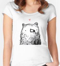 Bear Love Women's Fitted Scoop T-Shirt