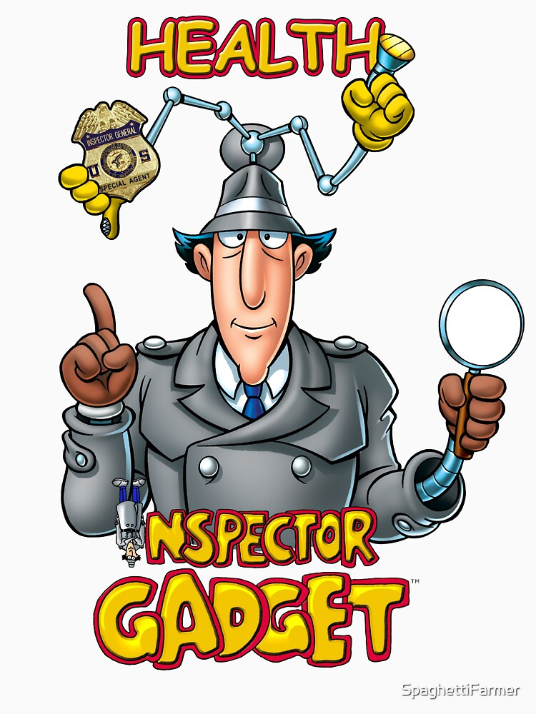 Health Inspector Gadget Womens Fitted Scoop T Shirt By
