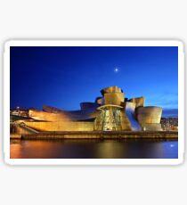 Nächte des Guggenheim Museums - Bilbao Sticker