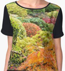 Multicolored Plants - Nature Photography Chiffon Top