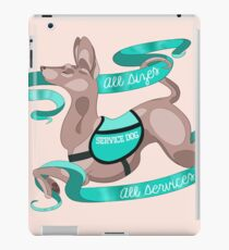 "Sassy Service Dogs | ""All Sizes, All Services"" American Hairless Terrier iPad Case/Skin"