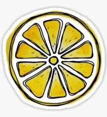 Watercolor lemon  Sticker
