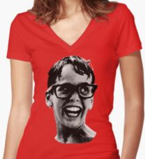 Squints, big Women's Fitted V-Neck T-Shirt
