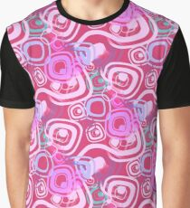 Sixties Hippie Psychedelic Pink Graphic T-Shirt