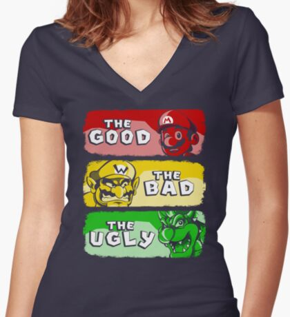 The Plumber Women's Fitted V-Neck T-Shirt