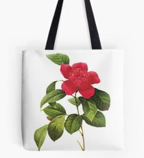 Vintage - Flower - Red Passion Flower / Spanish jasmine Tote Bag