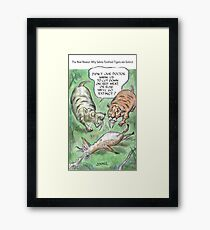 Extinct Series - The Real Reason Why Sabre-Toothed Tigers are Extinct Framed Print