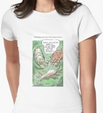Extinct Series - The Real Reason Why Sabre-Toothed Tigers are Extinct Women's Fitted T-Shirt