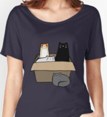 Cats in a Box Women's Relaxed Fit T-Shirt