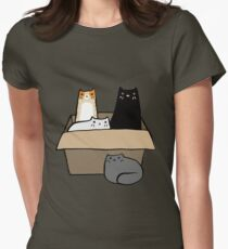 Cats in a Box Womens Fitted T-Shirt