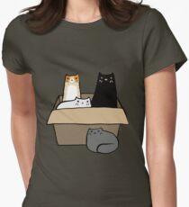 Chats dans une boîte T-shirt col V femme