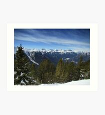 Alpine Ridge Art Print