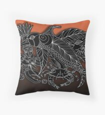 corvo golphino Throw Pillow