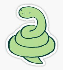 Coiled Snake Sticker
