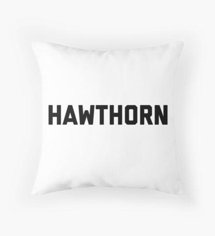 Hawthorn - black block letters Throw Pillow