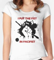 Pacifist Women's Fitted Scoop T-Shirt