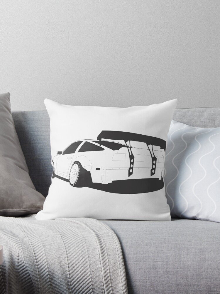 Z31 Widebody Throw Pillows By Neuefab Redbubble