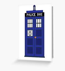 8-Bit TARDIS Greeting Card