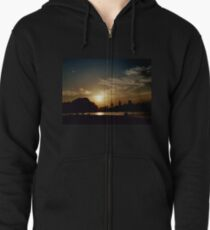 Summer Sunset Zipped Hoodie