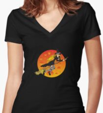 Witch&Moon Women's Fitted V-Neck T-Shirt