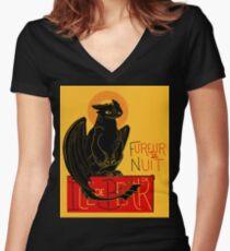 Fureur de Nuit Women's Fitted V-Neck T-Shirt