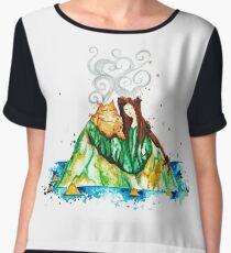 I Lava You Volcanoes in Hawaii - I Love You Chiffon Top