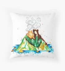 I Lava You Volcanoes in Hawaii - I Love You Throw Pillow
