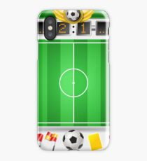 Infographic Set of Soccer Field and Icons iPhone Case