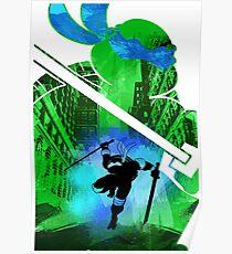Leonardo Ninja Turtle Poster