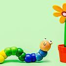 Caterpillar and Flower von MMPhotographyUK