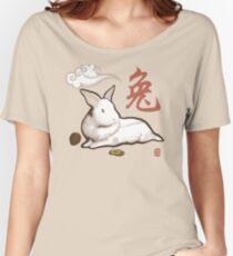 Lionhead Rabbit Sumi-E Women's Relaxed Fit T-Shirt
