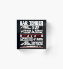 Barkeeper - Bar Tender Acrylblock