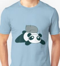 Panda and Gray Cat Unisex T-Shirt