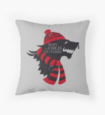 Baby, it's cold outside Throw Pillow