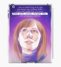 Never forget Donna Noble iPad Case/Skin