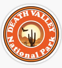 DEATH VALLEY NATIONAL PARK CALIFORNIA CACTUS HIKE HIKING CAMP CAMPING BIKING Sticker