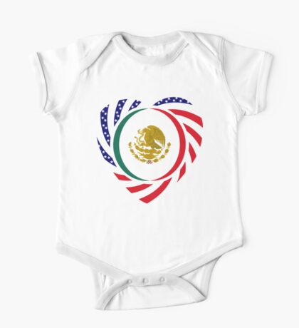 Mexican American Multinational Patriot Flag Series (Heart) Kids Clothes