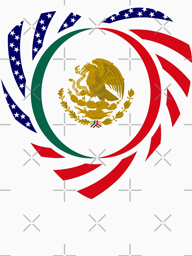 Mexican American Multinational Patriot Flag Series (Heart) by carbonfibreme