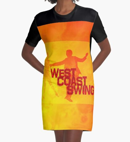 West Coast swing Graphic T-Shirt Dress