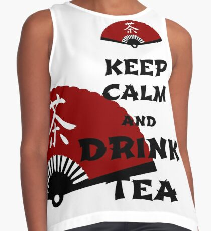 keep calm and drink tea - asia edition Contrast Tank
